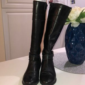 Marc Fisher black knee high riding boots size 10M